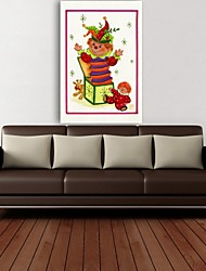Christmas Decoration Stretched Canvas Print Art Cartoon Jack in The Box by Beverly Johnston
