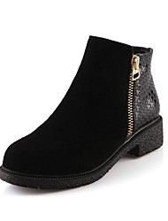 Women's Shoes Round Toe Low Heel Ankle Boots
