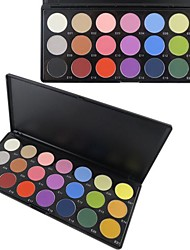 21 Color Matte Professional Eye Shadow Makeup Cosmetic Palette with Mirror&Applicator Set C