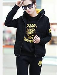 yisiber coreano ispessimento sport causali delle donne più velluto tuta felpa con cappuccio grande cortile tre pezzi