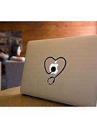 skinat extraíble bricolaje divertido tableta smallstethoscope cuteblack y etiqueta engomada del ordenador portátil para que la tableta y el MacBook