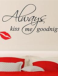 adesivos de parede beijo de boa noite citações decalque da parede decoração de casa jiubai ™