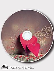 personalizado CD-R / DVD-r amantes creativas regalo mágico Patrón de boda (juego de 5)