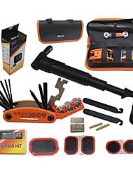 biking® outils multifonctions de réparation de pneus Kit de réparation de vélos vélo ouest mettre cyclisme réparation de pneus avec pompe de poche