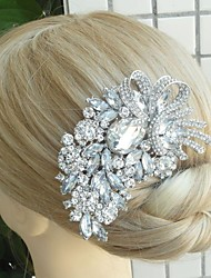 Women's Vintage Alloy Rhinestone Crystal Flower Wedding Bridal Hair Comb