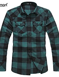 Lesmart Men's Fashion Casual Long-sleeved Plaid Shirt