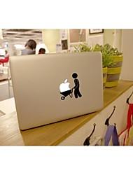 skinat extraíble empuje lindo bricolaje con el logotipo de la etiqueta portátil vehículo para que la computadora de la tableta y el aire del macbook