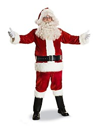 Deluxe Flocking Santa Suit(for 170-175cm Men)