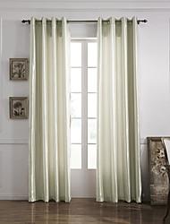 modernos um painel de cortinas de painel de poliéster sala de marfim sólido cortinas