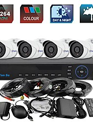yanse® sistema de 4 canales cctv 960H kit dvr de color ir impermeable cámara de cámaras de seguridad 1000tvl 721cf04
