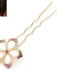 Fashion Rhinestone Crystal Flower Hairpin