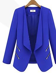 casaco de manga longa slim-encaixe das mulheres ssmn
