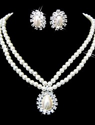 Jewelry Set Women's Anniversary / Engagement Jewelry Sets Alloy Imitation Pearl / Rhinestone Necklaces / Earrings Silver