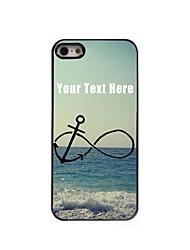 personnalisé cas de téléphone - ancre et la conception de plage boîtier métallique pour iPhone 5 / 5S