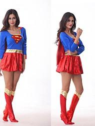 Classics Long Sleeve Superhero Superman Superwoman Fancy Dress Women's Costume