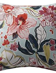 vívido padrão floral poliéster capa almofadas decorativas