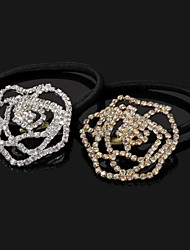 luckybaby strass or rose de ring_129 de cheveux, d'argent (4.5 * 4.5)