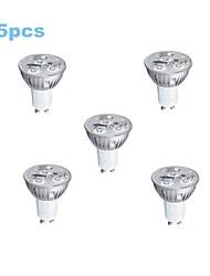 5 pcs GU10 3 W 1 High Power LED 200-250 LM Cool White PAR Spot Lights/Par Lights AC 85-265 V