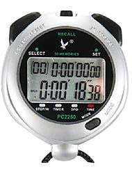 50 1 / 100s souvenirs 2 ligne de temps 10h à rebours&calendrier chronomètre numérique pour saut de sport pc2250