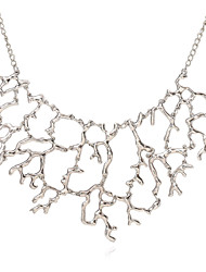Women's Statement Necklaces Alloy Euramerican Fashion Coral Silver Gold Jewelry For Party 1 pc