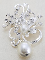 Women's Pearl/Alloy Brooch As the Picture