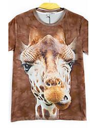 Men's Floral Print 3D All Match  T-Shirt