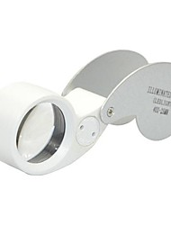 MG - 21011 Portable 25mm 40X Jewelers Magnifier 2-White LED Flashlight
