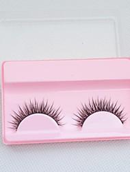 2pcs maquiagem cílios postiços longo falso olho ferramenta extensões chicote handmade macio