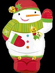 Christmas Shaking Hand Snowman Metallic Balloons