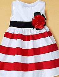 Girl's Blue / Red Dress Cotton / Chiffon Summer / Fall