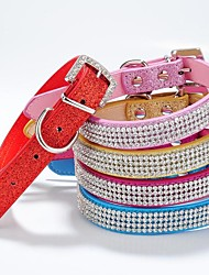 New Material Glossy Rhinestone Collar for Dogs and Pets(assorted colours ,size)