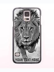 caja del teléfono personalizado - leones salvajes diseño de la caja de metal para i9600 Samsung Galaxy S5