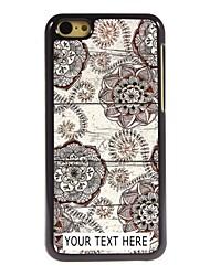 caso de telefone personalizado - caso retro flower design de metal para iphone 5c
