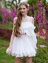 Women's Dresses , Polyester/Spandex Casual/Party Sleeveless DABUWAWA