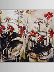 Hand Painted Oil Painting Floral Birds And Flowers with Stretched Frame