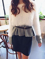 Women's Elegant Loose Stitching Sweater