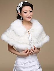 Wedding  Wraps / Fur Wraps Capelets Faux Fur Ivory Wedding / Party/Evening Lace Lace-up