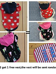 Compre 2 y Obtenga 1 camiseta gratis, un paquete de hoddies lana 2 perros diferentes ventas del grupo patrón para perros (diferentes tamaños)