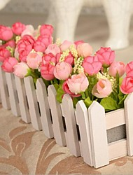 campagne clôtures en bois de haute qualité ont augmenté de simulation de fleurs