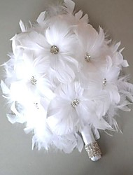 Wedding Flowers Free-form Bouquets Wedding White Leather