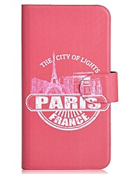 Red Paris Pattern PU Mobile Phone Holster With Card Slot for Samsung S5/i9600