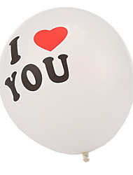 Extra Large Size Thick I LOVE YOU Round Balloons--Set of 24