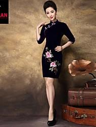 yimilan® temperamento elegante delle donne coltiva la sua moralità diviso delicato abito cheongsam ricamare