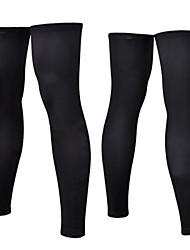 ciclismo proteção solar perna preto mais quente