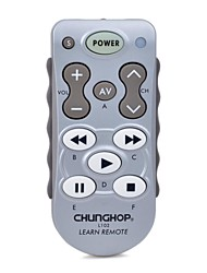 CHUNGHOP L102 Universal Single 11-Key Learning IR Remote Control - Silver + White (2 x AAA)