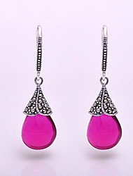 AS 925 Silver Jewelry  Gorgeous red corundum Earrings