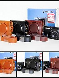 Pajiatu® Retro PU Leather Camera Protective Case Bag Cover for Canon Powershot S110 S120 S200