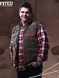 H-United® Men's Big Size Down Jacket Big&Tall Size Puffer Vest/Down Waistcoat/Vest 2XL-6XL Navy Blue