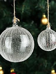 6cm Christmas Ornaments Glass Ball