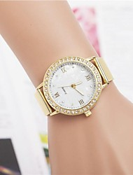 Women's Casual Watch Quartz Stainless Steel Band Sparkle Gold